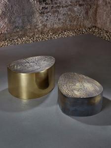 Loungetisch-Albeo-I und II aus Messing