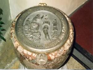 Bronzedeckel für Taufbrunnen