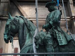 Restauration Reiterstatue aus Bronzeguss
