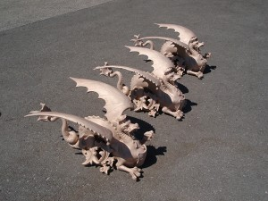Wasserspeier Bronze-Nachguss